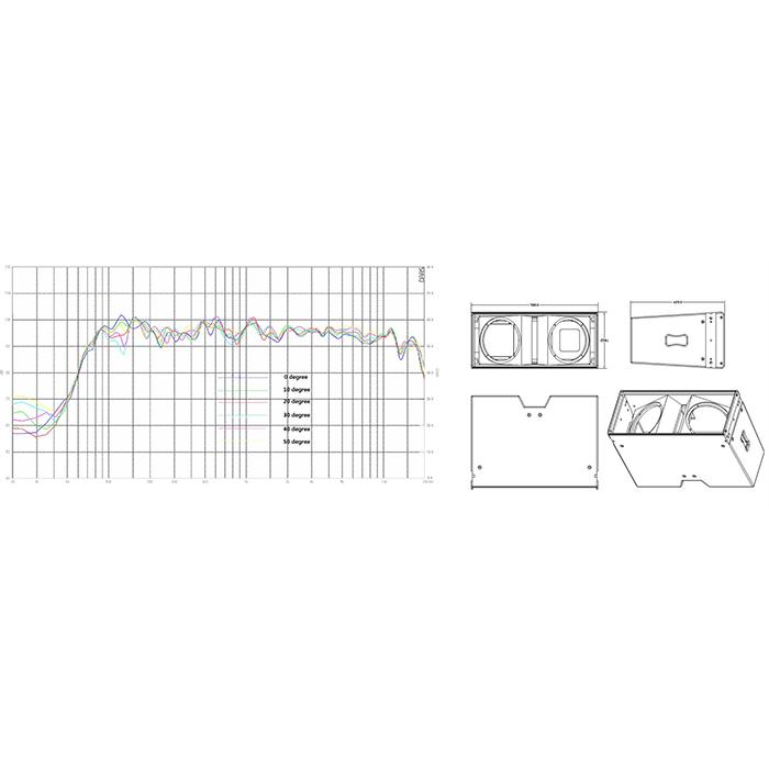 LA-28 dual 8'' stage line array Mini pa speakers Line Array systems 4