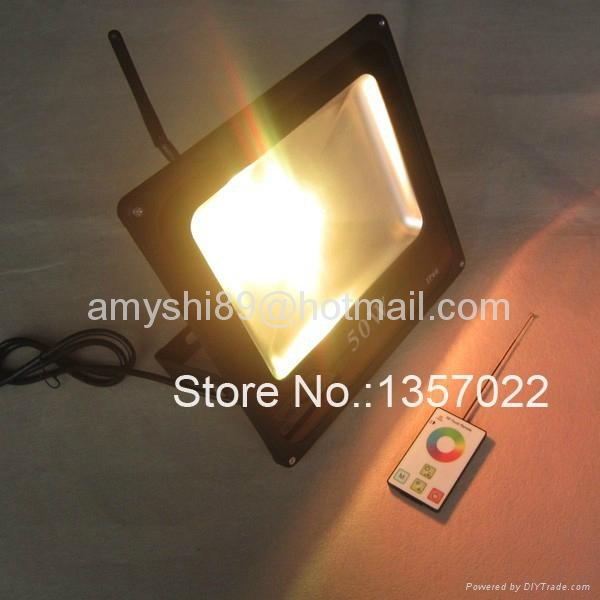RF remote control DMX RGB LED flood light 100W/50W 3