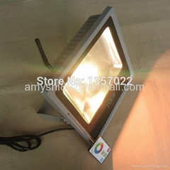 RF remote control DMX RGB LED flood light 100W/50W