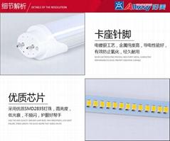 160LM/8瓦高光效高亮T8日光燈管節能改造用