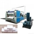 Automatic V folding facial tissue paper
