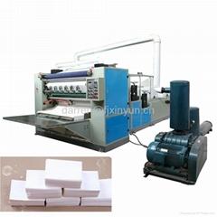Automatic V folding facial tissue paper making machine
