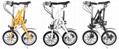 批发一秒折叠自行车16寸  铝