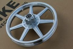 自行車電動車14寸一體鋁輪輪轂