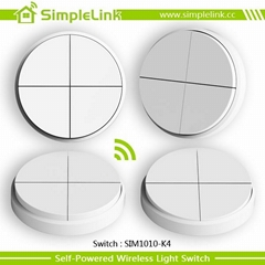 RF remote control smart 4 gang light switch, dimmer for home automation system