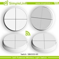 Low cost smart wireless remote electrical 4 gang lighting switch 4