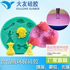 food grade liquid silicone rubber for silicone fondant cake moulds