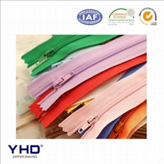 5# colorful nylon zipper
