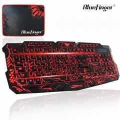 Three Adjustable Color Backlit Keyboard