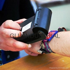 13.56MHz NFC wristband ticket for music festival cinema marketing