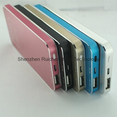 New Silver Slim Power Bank 4000mah Portable Charger Mobile Phone Backup Powers E