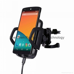 Qi wireless car charger with car holder for Samsung galaxyS5 S4 S3 S2 blackberry