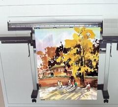 AP-5909-S  油性亮面耐水布紋油畫布 (Solvent & Eco Solvent & Latex & UV)