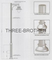 Aluminium lighting poles