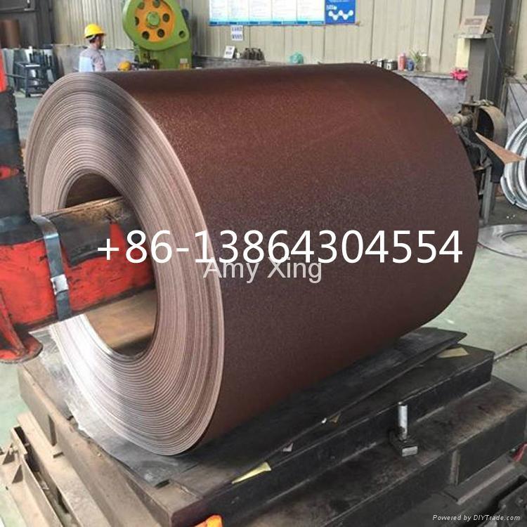 wrinkel matt 0.35mm prepainted ppgi steel coil Ukraine 1