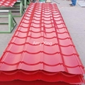galvanized corrugated steel tile roof