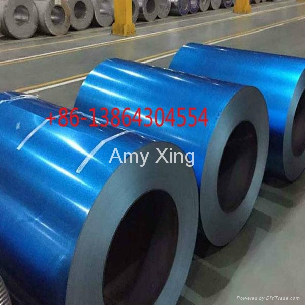 Transparent blue anti-finger print galvalume steel coil 1
