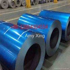 Transparent blue anti-finger print galvalume steel coil