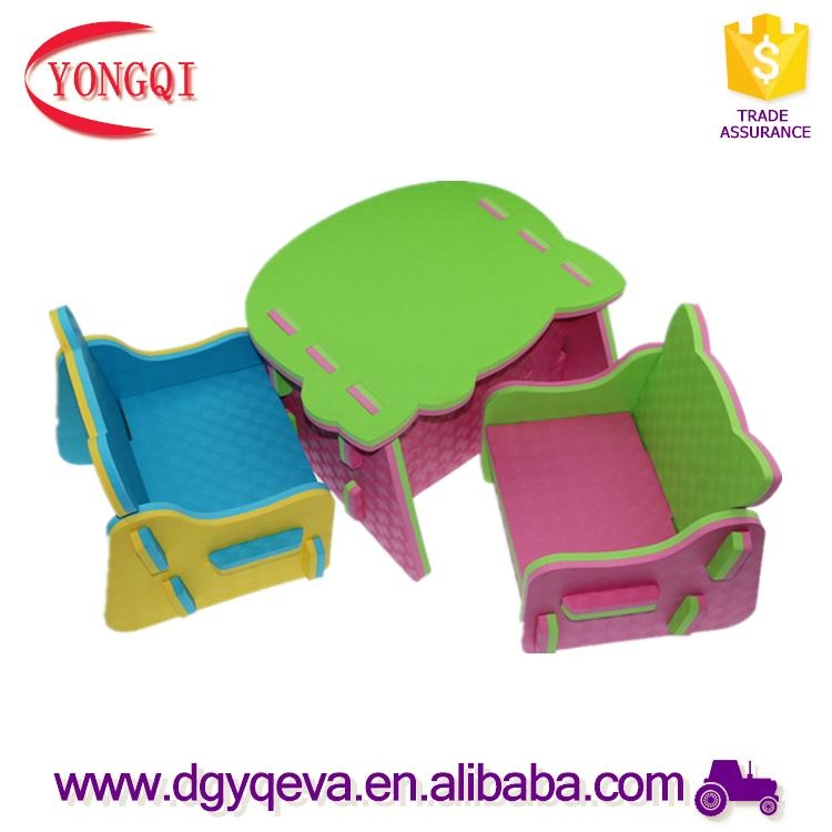 Factory Outlets Eva Cheap Children Furniture Table in Various of Design 2