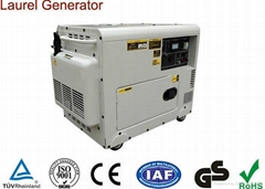 Copper Wire Silent 5kw Diesel Generator AC Single Phase
