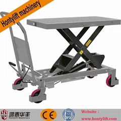 CE china supplier offers 1000kg cheap electric motorcycle scissor lift table wor