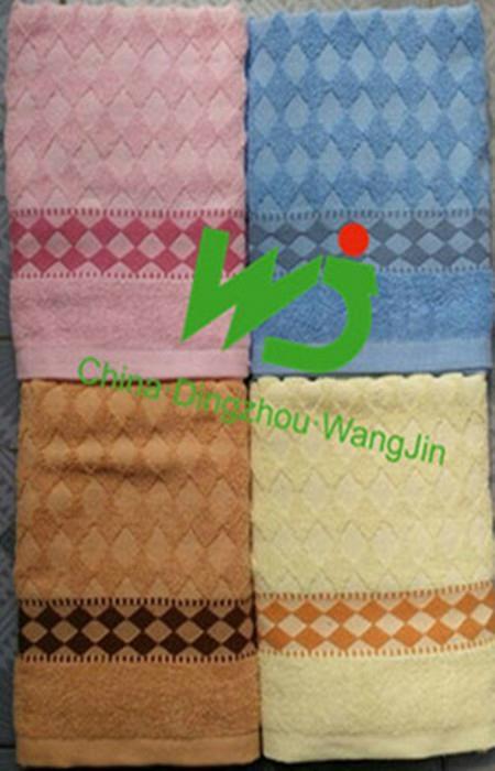 Bath towel tissue 70*140cm staining 100% cotton 5