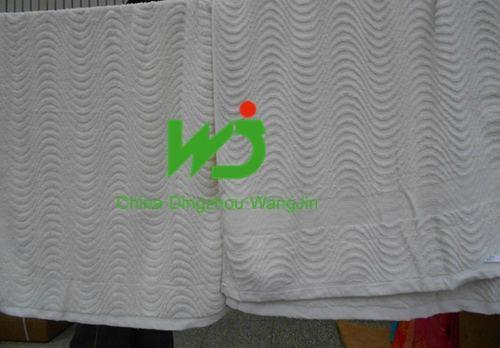 wholesale custom logo white 100% cotton 5 star hotel towel 3