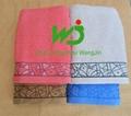 wholesale custom logo white 100% cotton 5 star hotel towel 4