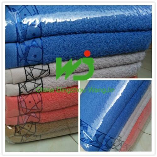 wholesale custom logo white 100% cotton 5 star hotel towel 5