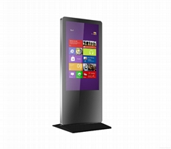 32-55inch Floor Standing PC AIO Capacitive Touch Display