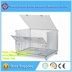 Stackable Foldable Wire Mesh Container Used For Storage