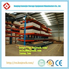 Steel Pipe Warehouse Folding Cantilever Rack