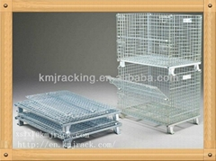 Stainless Steel Folding Wire Mesh Storage Container