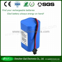 12V 4400mAh rechargeable lithium battery pack for medical patient monitor