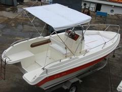 QD 22 OPEN Fiberglass fishing boat