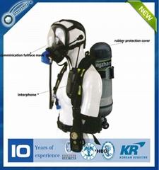 SCBA positive breathing apparatus air respirator