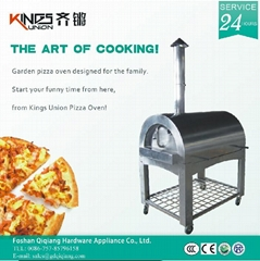 All stainless steel wood&charcoal outdoor pizza oven