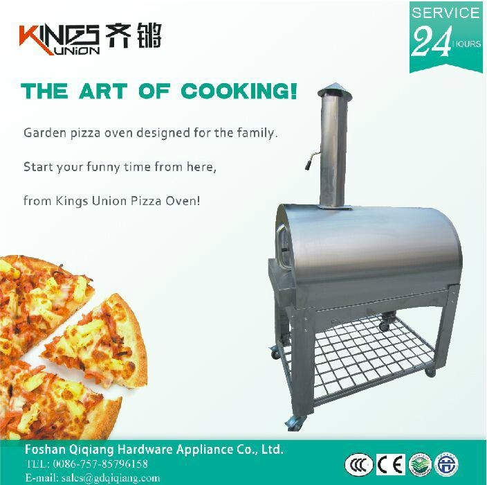All stainless steel wood&charcoal outdoor pizza oven 4