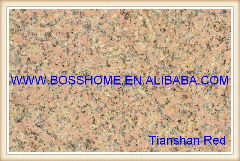 Tianshan Red Unsided rubbed slab 1