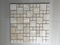 Fashion Decorative Travertine Mosaic Tiles