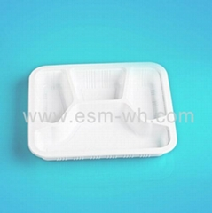 Hot sell 4 compartment disposable plastic PP lunch box catering tray take-away b
