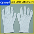 Hot Sale 80-90gsm Grade B Fabric Extra large White cotton work gloves  2