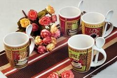 Ceramic Coffee Mug with Spoon Custom Imprint Mug Spoon