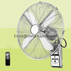 16 Inch 40 CM Metal Remote Control Wall Fan Wall Mounted