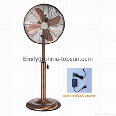 12 V DC Electric Metal Antique 18 W 12 inch Stand Fan