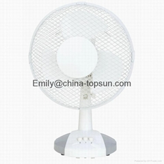 Home Applicance Small Electric 9 inch 23cm Plastic Table Fan