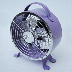 Small Mini Metal 4 Inch DC 5V 2.5w Propeller USB led Table Fan