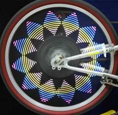 Wireless Custom Message Programmable Bike Wheel Light