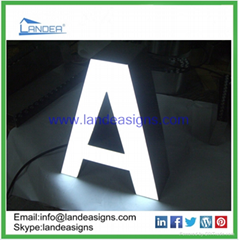 3D customized acrylic channel letters