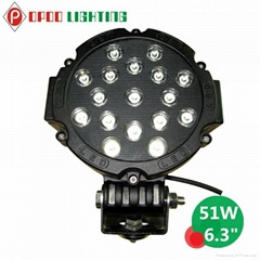 Car Accessories 51W Led Work Light, Offroad 51W Led Work Light